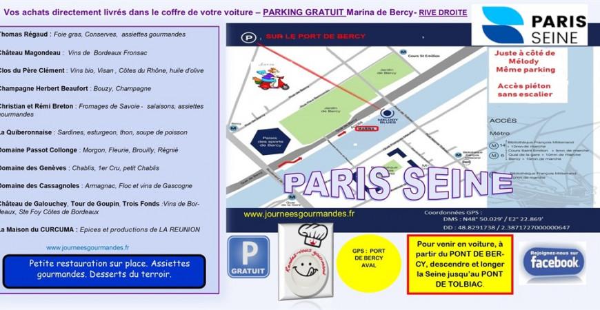 Annulé : Journées gourmandes Paris printemps 2020 liste et plan