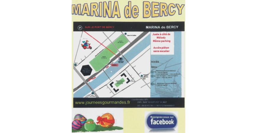 Journées gourmandes plan d'accès MARINA DE BERCY
